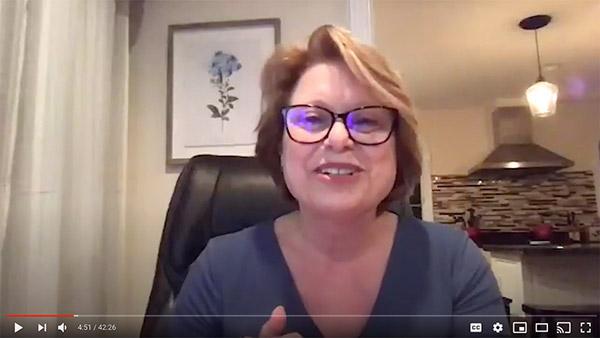 Dr. Cheri LeBlanc on a webinar